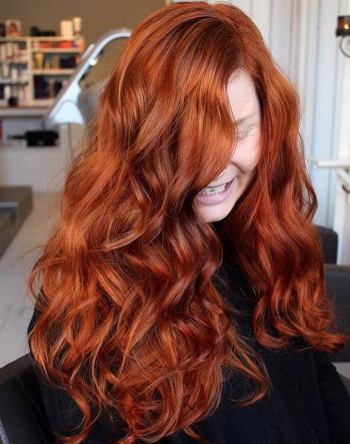 40 Red Hair Color Ideas \u2013 Bright and Light Red, Amber Waves, Ginger Hair Color